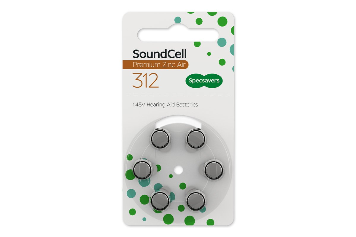 Specsavers premium hearing aid batteries size 312  1.47v quality zinc air pack of 60