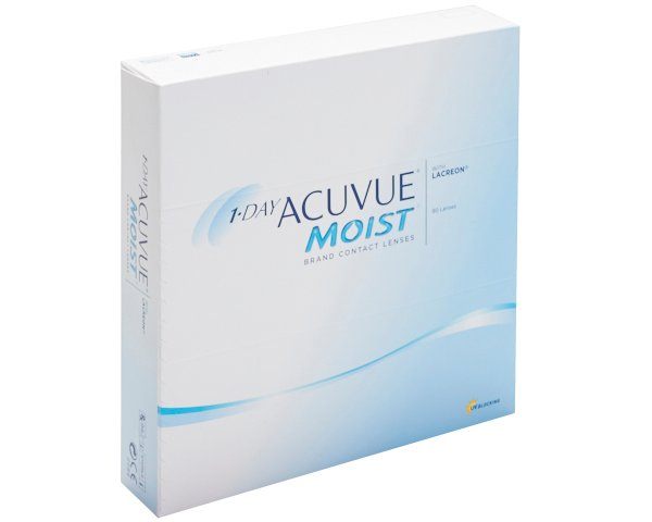 Acuvue contact lenses - 1 Day Acuvue Moist 90 pack