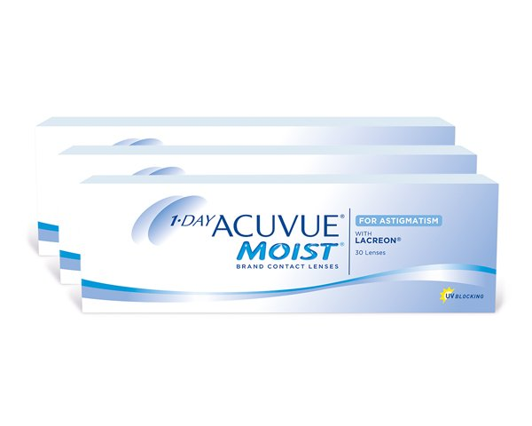 Acuvue contact lenses - 1 Day Acuvue Moist for Astigmatism 90 Pack