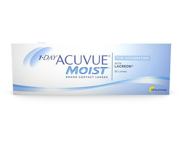 Acuvue piilolinssit - 1 Day Acuvue Moist for Astigmatism