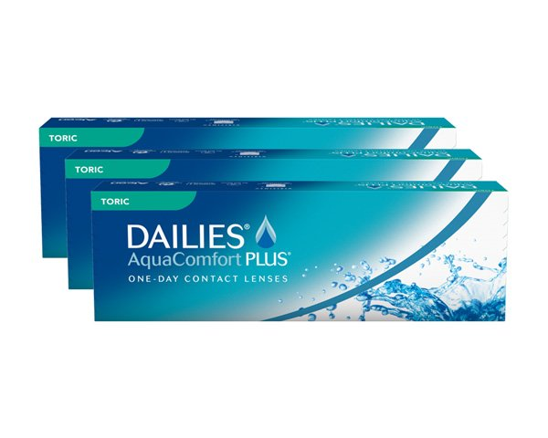 Dailies piilolinssit - Dailies Aqua Comfort Plus Toric 90 linssiä