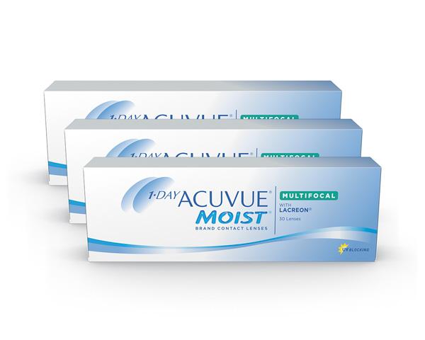 Acuvue piilolinssit - 1 Day Acuvue Moist Multifocal 90 linssiä
