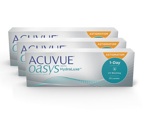 Acuvue piilolinssit - Acuvue Oasys 1-Day for Astigmatism 90 linssiä