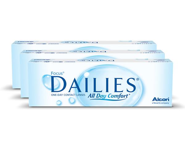 Dailies piilolinssit - Focus Dailies All Day Comfort 90 linssiä