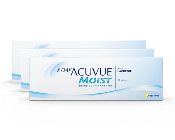 Acuvue piilolinssit - 1 Day Acuvue Moist 90 linssiä