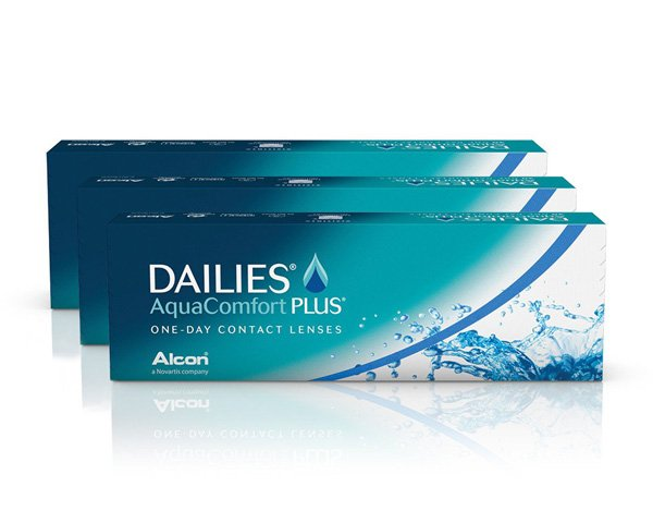 Dailies contact lenses - Focus Dailies Aqua Comfort Plus 90 Pack
