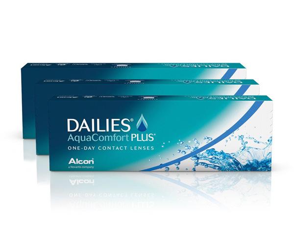 Dailies kontaktlinser – Dailies Aqua Comfort Plus 90 linser