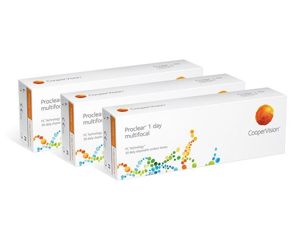 Proclear kontaktlinser – Proclear 1 Day Multifocal 90 linser